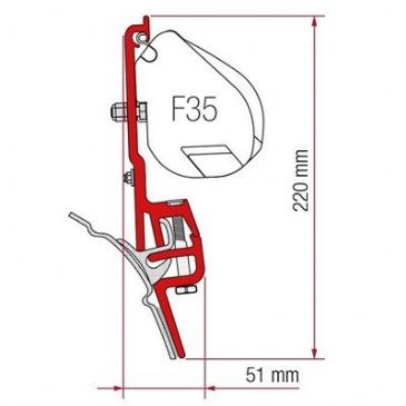 Fiamma Awning Adapter KIT BRANDRUP VWT4 F45-F35